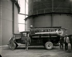Albuquerque Gas and Electric employees with a work truck