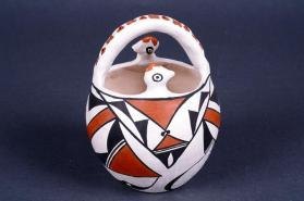 Acoma Pottery Bird Basket