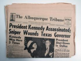 "Albuquerque Tribune, 22 November 1963, "" President Kennedy Assassinated"