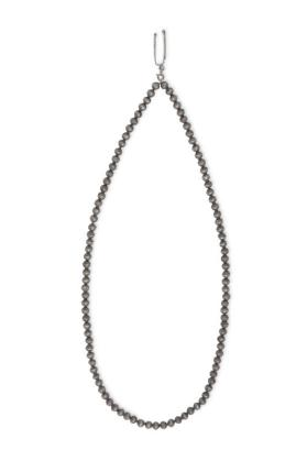 Necklace, silver beads