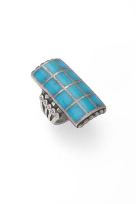 Navajo Channel Inlay Ring