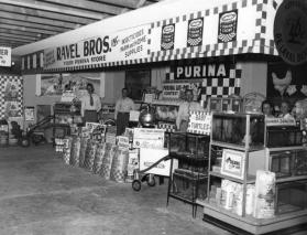 Ravel Brothers Feed Store's exhibit at the State Fair