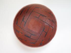 Bowl, Wingate Black on Red