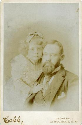Portrait of Dr. John F. Pearce and daughter