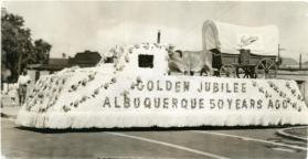 Napoleone Brothers parade float for Albuquerque's Golden Jubilee